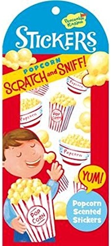 Peaceable Kingdom Scratch and Sniff Popcorn Scented Sticker Pack