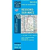 Ressons-sur-Matz : 1/25 000 (Série bleue)