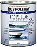 Rust-Oleum 206999 Marine Topside Paint, White, 1-Quart