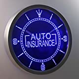 nc0367-b Auto Insurance Display Gift Neon Sign LED Wall Clock