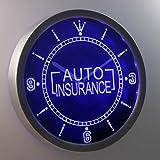 nc0367-b Auto Insurance Display Gift Neon Sign LED Wall Clock
