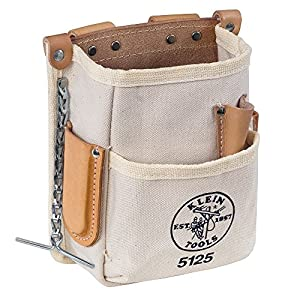 Klein Tools 5125 Canvas 5-Pocket Tool Pouch
