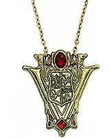 JoJo&Lin Twilight Inspired Saga Eclipse Silvery Necklace Pendant New Moon Volturi Crest Vintage Jewelry