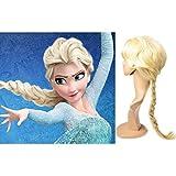 Kamo Princess Frozen Snow Queen Elsa Cosplay Wig Elsa Wig Costume Hair 56cm Long Light Blonde + Free Wig Cap