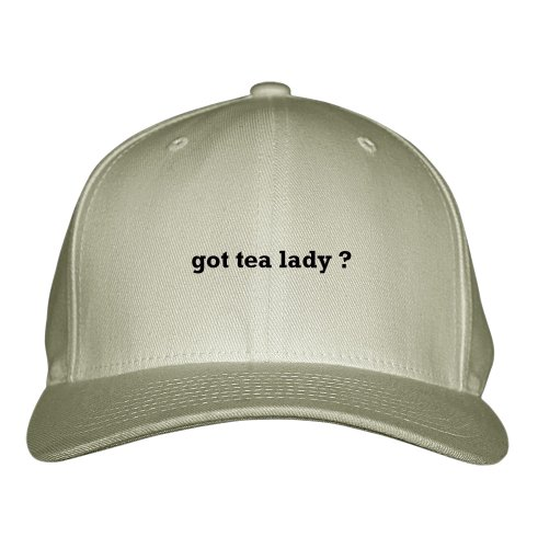 Got Tea Lady? Career Profession Embroidered Adjustable Structured Hat Cap Khaki