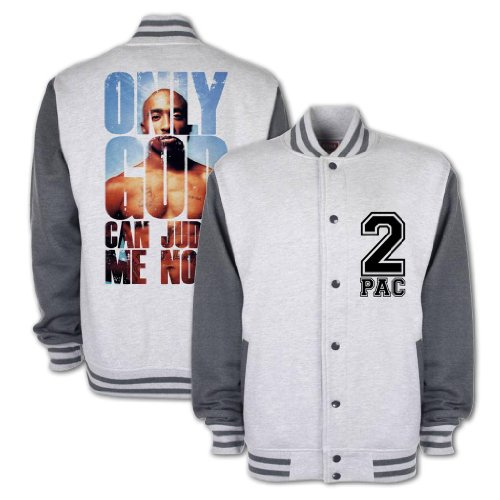 Bang Tidy Clothing Only God Can Judge Me Varsity Jacket Lgdg L