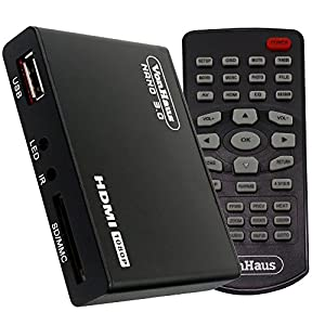 Vonhaus par Designer Habitat Nano 3.0 - Mini Media Player numérique HD TV - 1080p - Lit tout fichier depuis disques durs USB/clés USB /cartes mémoire