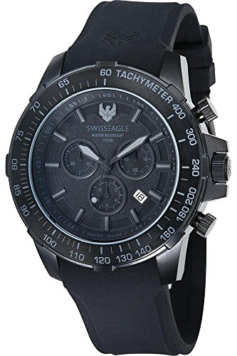 Swiss Eagle Reloj de cuarzo Herzog Negro 45  mm