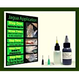 Jagua Tattoo Ink Gel 1oz (29.5ml)Top Grade Professional Made in U.s.a + Applicator Bottle and 3 of the Most Used Applicator Needle Cones (Color: Black)