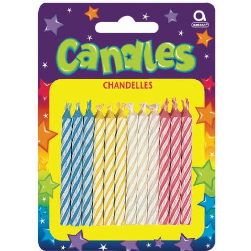 Candy Stripe Candles-Asst.24/Pkg - 1