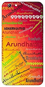 Arundhathi (Popular Girl Name) Name & Sign Printed All over customize & Personalized!! Protective back cover for your Smart Phone : Apple iPhone 4/4S