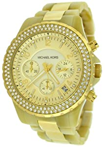 Michael Kors Women's MK5417 Madison Chronograph Horn and Gold Watch
