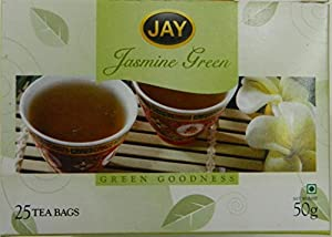Jay Jasmine Green Tea pack of 25 individually sealed tea bags for aroma lock