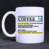 Funny Gift - Funny Big Mouth Toys The Prescription Coffee Theme Coffee MugTea Cup Ceramic Material MugsWhite 11oz