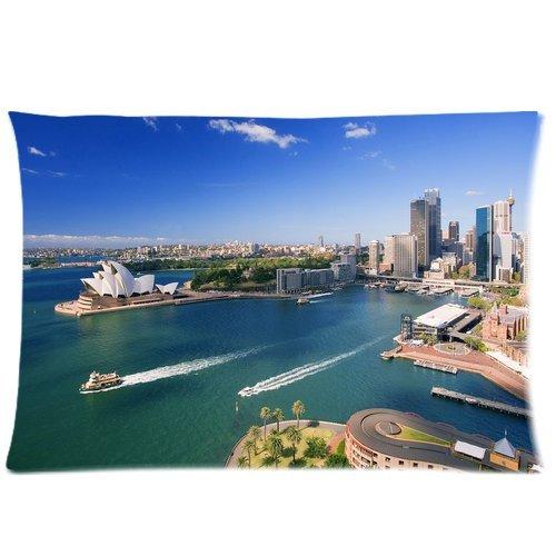 sydney-opera-house-background-comfortable-cottonpolyester-pillowcase-pillow-slip-cushion-case-pillow