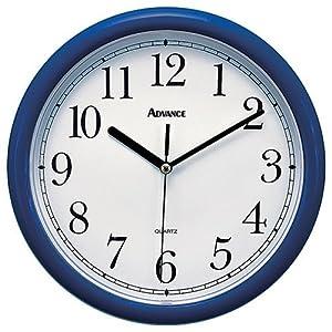 10 navy plastic wall clock home kitchen