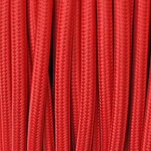 Cavo elettrico tondo rivestito in tessuto colorato per for Lampadari di tessuto