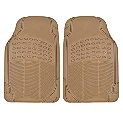 See All Weather Tough Rubber Floor Mats in Beige - 2pc Front Set Details