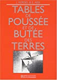 Tables de pousse et de bute des terres