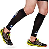 Calf Compression Sleeve By Camden Gear - Helps Shin Splints, Leg Compression Socks for Men and Women