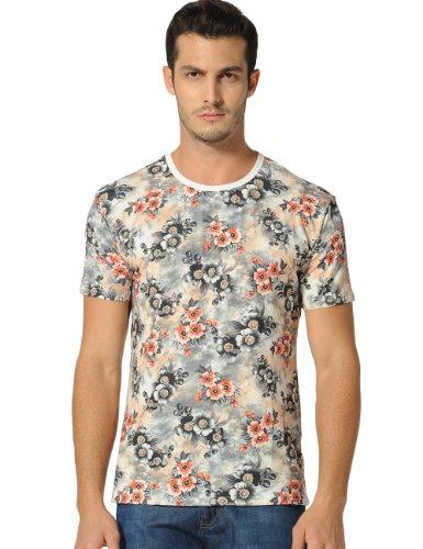 Sslr Men'S Crewneck 3D Printing Hipster T Shirt (Medium, Multicolour)