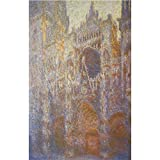 Art Panel - The Rouen Cathedral, West facade by Monet