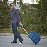 Lug Shuttle Bus Weekender Bag with Wheels, Navy Blue, Bags Central