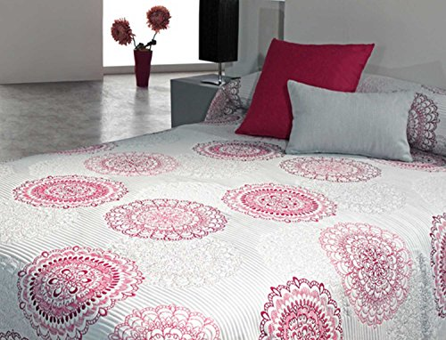 Colcha Aguas Rojo cama de 135