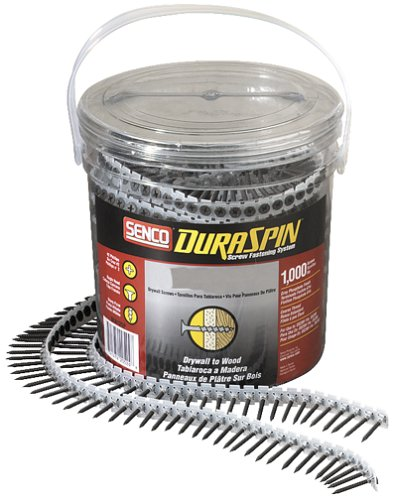 Senco 06A162P DuraSpin Number 6 by 1-5/8-Inch Drywall to Wood Collated Screw (1,000 per Box)