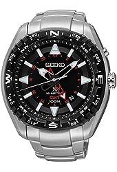 Men's Seiko Prospex Kinetic Stainless Steel Black Dial Watch