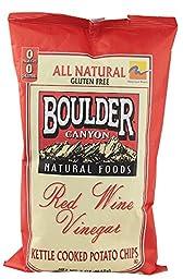 Boulder Canyon All Natural Gluten Free Kettle Chips Red Wine Vinegar -- 5 oz (Pack of 2)