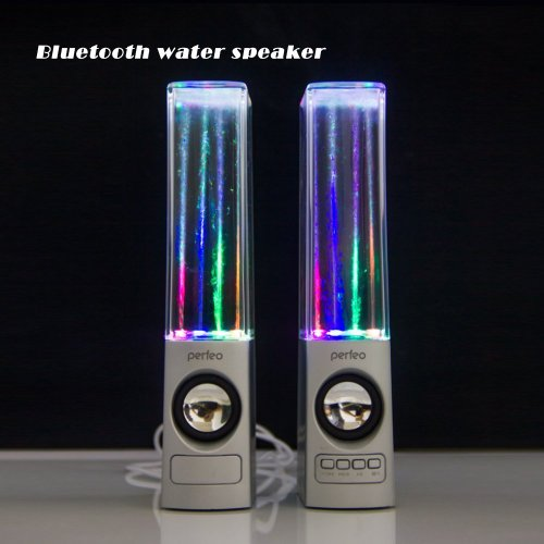 Oilsound Wireless Bluetooth Music Fountain Dancing Water Speakers/Apple Speakers (Silver)