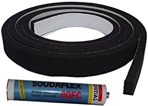 Neoprene gap filling seal draught excluder for a 14 ft for Door gap filler