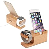 Happy Digital® Apple Watch Stand, Mydeal Iwatch Premium Bamboo Wood Charging Stand [Apple Watch Charging Dock] Universal Bracket Docking Station Stock Cradle Holder for Apple Watch -,Iphone 6,6 Plus,iphone 5 5s 5c 4 4s