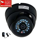 51R4JbC30NL. SL160  VideoSecu Outdoor Dome Night Vision IR CCD Security Camera 420TVL with Free Power Supply 1Z0