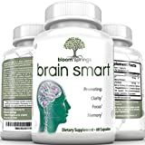 Super Memory Booster Brain Supplement – Ginkgo Biloba St Johns Wort Glutamine Vinpocetine Acetyl L-Carnitine DMAE & Bacopa complex – Supports Memory Mood and Clarity #1 Nootropics Stack Reviews