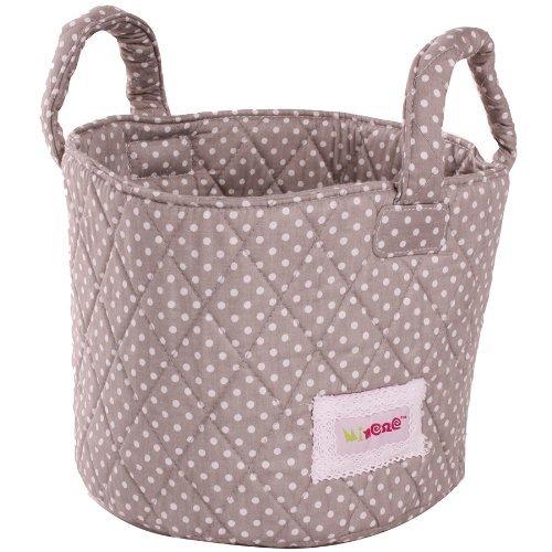 Minene Storage Basket with Dots (Grey/ White, Small)