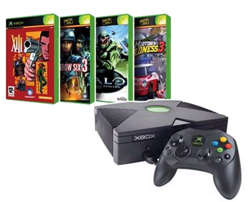 Four Game Xbox Bundle - Includes Console Plus Halo, Midtown Madness 3, XIII, Rainbow Six 3
