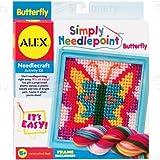 Simply Needlepoint Butterfly Craft Kit by Alex Toys