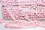 Pompomborte 5m rosa Gesamtbr.18mm Pompom 10mm Durchmesser