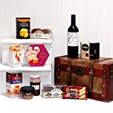 Deluxe Tonada Red Merlot Wine & Treats Vintage Chest Gift Hamper Gift ideas for - Valentines,Presents,Birthday,Men,Him,Dad,Her,Mum,Thank you,Wedding Anniversary,Engagement,18th,21st,30th,40th,50th,60th,70th,80th,90th