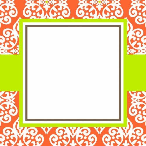 Three Designing Women Designer Gift Tags, Orange Medallion Collection front-208063