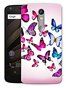 """Humor Gang Butterfly Colorful Printed Designer Mobile Back Cover For """"Motorola Moto X Force"""" (3D, Matte, Premium Quality Snap On Case)"""