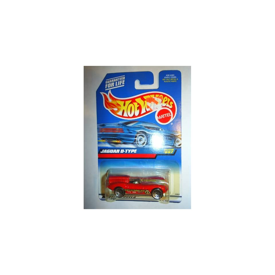 Mattel Hot Wheels 1999 164 Scale Red Jaguar D Type Die Cast Car Collector #997