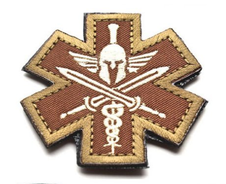 Spartan Medic Tactical EMT EMS Military Combat Army Morale Outdoor Velcro Patch (Military Ranger Patch compare prices)