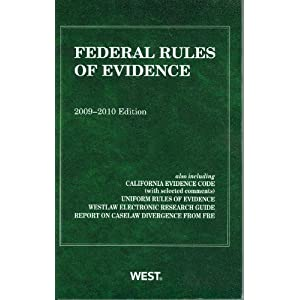 Amazon.com: Federal Rules of Evidence, With Evidence Map, 2009 ...