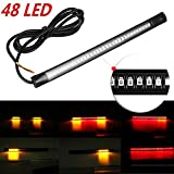 #7: Leebo Flexible 48 LED Strip DRL Tail Brake Turn Signal Red & amber For All Bike