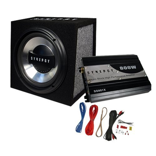 """Synergy Series Ss10P 600 Watt 10"""" Car Subwoofer Box/Amplifier/Wiring By Ma Audio"""