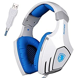 SADES Wired USB Stereo Gaming Headset Over-Ear Headphones