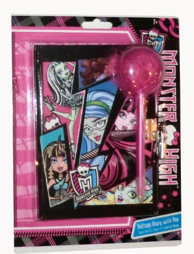 Monster High Voltage Diary with Lock + Key + Pen - 1